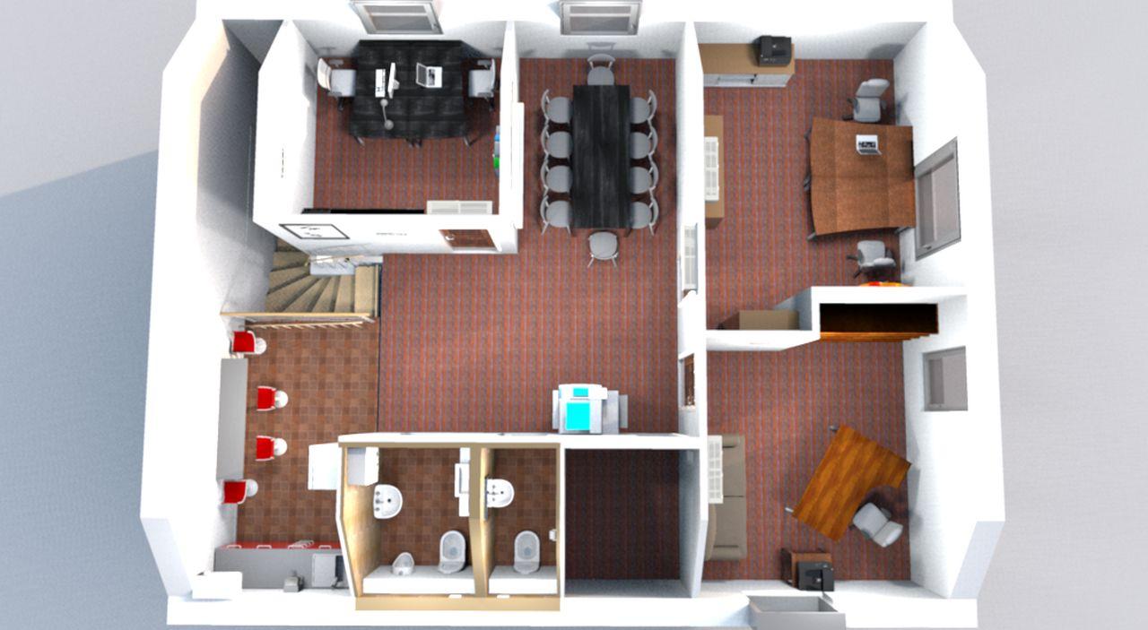 Üllői út irodaház belsőépítészeti tervezés